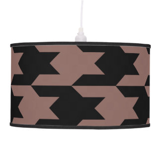 Houndstooth Pattern 1 Cognac Lamps
