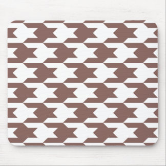 Houndstooth Pattern 1 Cognac Mouse Pad