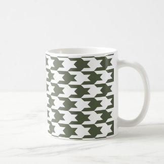Houndstooth Pattern 1 Cypress Coffee Mugs