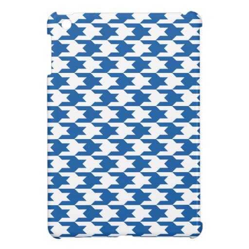 Houndstooth Pattern 1 Dazzling Blue iPad Mini Covers