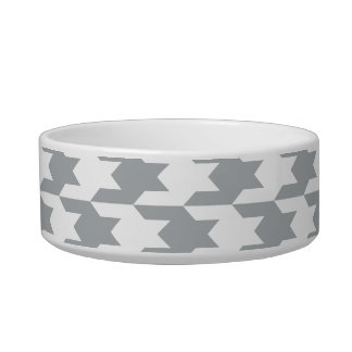 Houndstooth Pattern 1 Paloma Cat Water Bowl