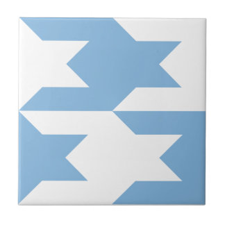 Houndstooth Pattern 1 Placid Blue Tiles