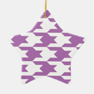 Houndstooth Pattern 1 Radiant Orchid Ornament