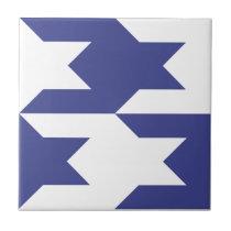 Houndstooth Pattern 1 Royal Blue Tile