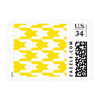 Houndstooth Pattern 1 Yellow Postage