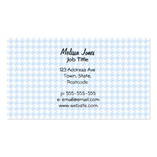 Houndstooth pattern - baby blue business card templates