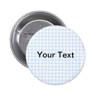 Houndstooth pattern - baby blue button