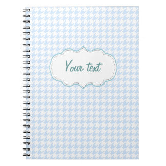 Houndstooth pattern - baby blue notebook