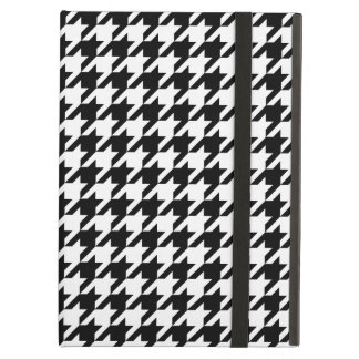 Houndstooth pattern black and white case for iPad air