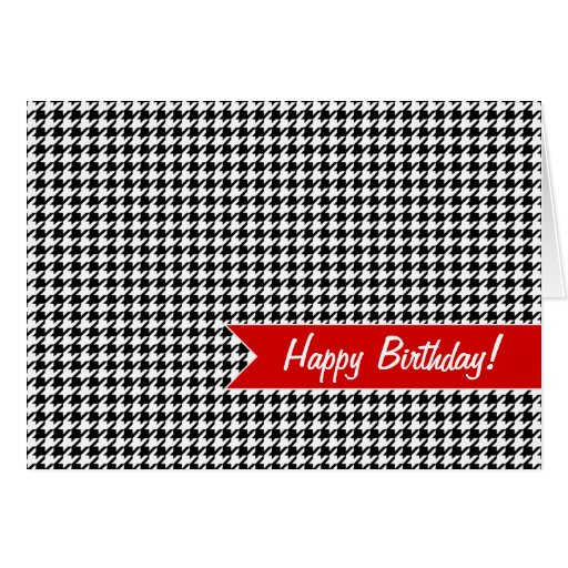 Houndstooth pattern - Black and white Greeting Card