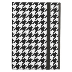 Houndstooth Pattern Black And White Ipad Air Covers at Zazzle