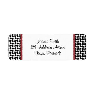 Houndstooth pattern - Black and white Label