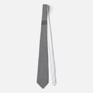 Houndstooth pattern - Black and white Neck Tie