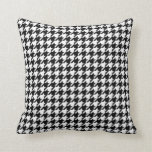 Houndstooth pattern black and white pillow