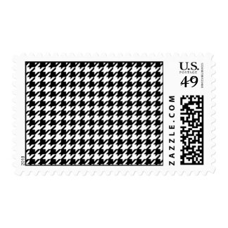 Houndstooth pattern - Black and white Postage