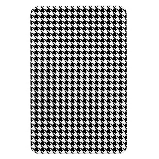 Houndstooth pattern - Black and white Rectangular Magnets