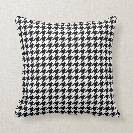 Houndstooth Pattern Black And White Throw Pillows Zazzle