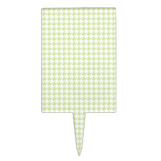Houndstooth pattern - girly green cake topper