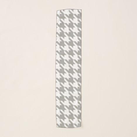Houndstooth Pattern: Light Grey Scarf
