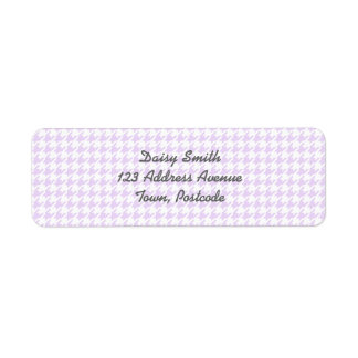 Houndstooth pattern - lilac purple label