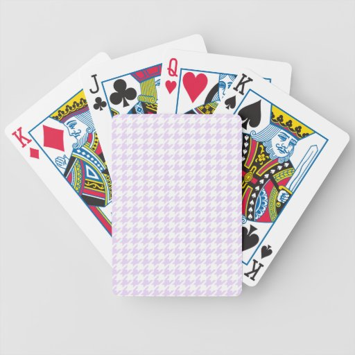 Houndstooth pattern - lilac purple playing cards