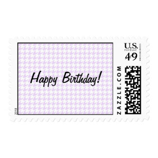 Houndstooth pattern - lilac purple postage stamp