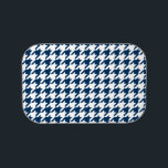 "Houndstooth Pattern: Navy Blue Lunch Box<br><div class=""desc"">Houndstooth Pattern: Navy Blue</div>"