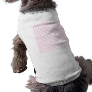 Houndstooth pattern - pastel pink tee