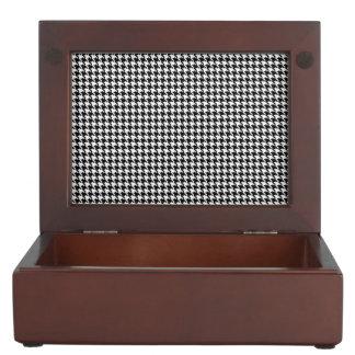 Houndstooth Pattern Keepsake Box