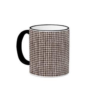 Houndstooth Pattern Ringer Mug