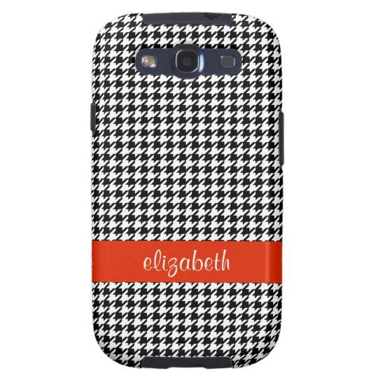 Houndstooth Pattern  Samsung Galaxy S Case