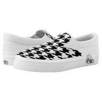 Houndstooth pattern Slip-On sneakers