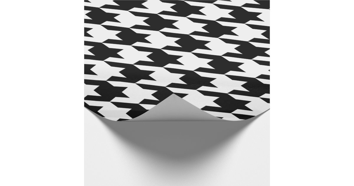 houndstooth wrapping paper Premium commercial quapty gift wrapping paper in soft gloss finish each roll is individually wrapped in cellophane for protection roll - not folded so no creases.