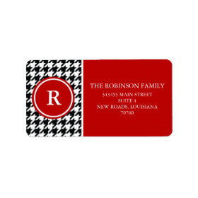 Houndstooth Personalized Address Label