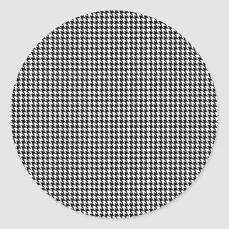 Houndstooth Personalized Classic Round Sticker