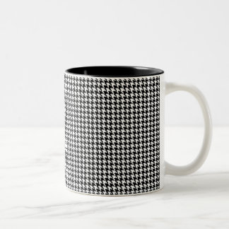 Houndstooth Personalized Two-Tone Coffee Mug