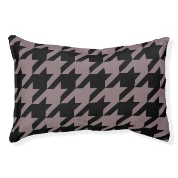 Professional Business Houndstooth Pet Bed (Mocha)