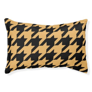 Professional Business Houndstooth Pet Bed (Mustard)