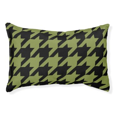 Professional Business Houndstooth Pet Bed (Olive)