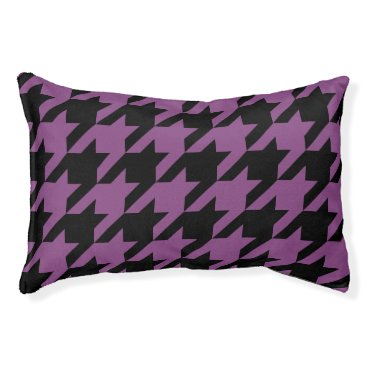 Professional Business Houndstooth Pet Bed (Plum)
