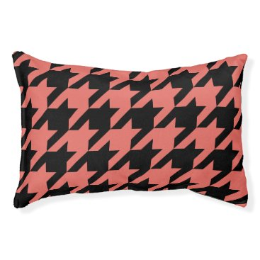 Professional Business Houndstooth Pet Bed (Spice)