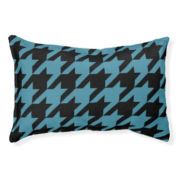 Professional Business Houndstooth Pet Bed (Teal)