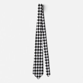 Houndstooth Pied-de-Poule Pattern Mod Tie