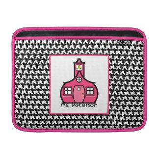 Houndstooth & Pink Teacher Macbook Air Sleeve
