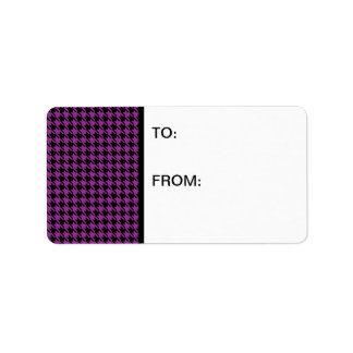 Houndstooth Plum and Black Label