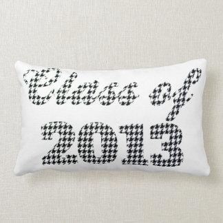 Houndstooth Print Class of 2013 Pillow