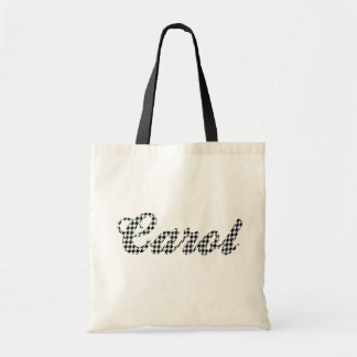 Houndstooth Print Name Carol Budget Tote Bag