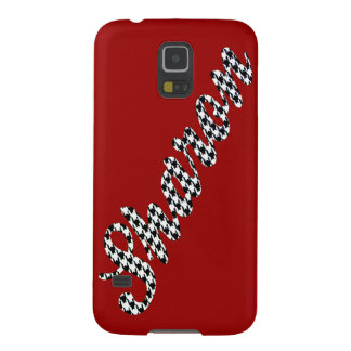 Houndstooth Print Name Sharon Galaxy S5 Case