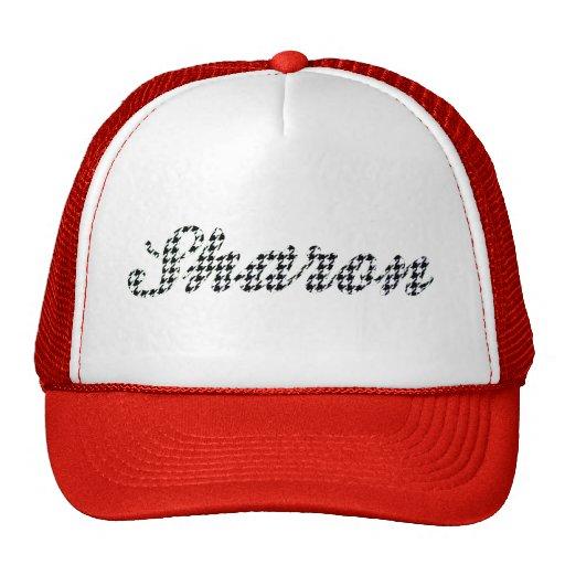 Houndstooth Print Name Sharon Trucker Hat