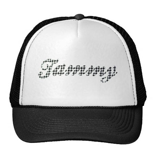 Houndstooth Print Name Tammy Mesh Hat